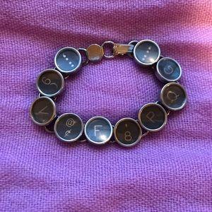 Jewelry - Vintage typewriter key bracelet.